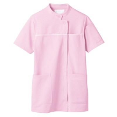 住商モンブラン住商モンブラン ジャケット(レディス・半袖) ナースジャケット 医療白衣 ピンク/白 M 73-1304(直送品)