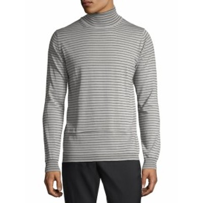ランバン メンズ トップス セーター ニット Striped Wool Turtleneck