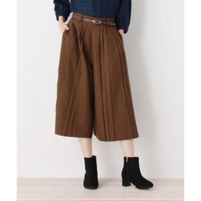SHOO・LA・RUE / シューラルー ベルト付プリ−ツ半端丈パンツ