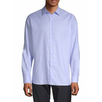 ヴァレンティノ Men Clothing Long-Sleeve Cotton Button-Down Shirt