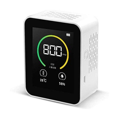 Air Quality Monitor, USB Carbon Dioxide Detector,3-In-1 Combo CO2 Moisture Meter 400-5000PPM Measuring Range, Detector Temperature and Humid
