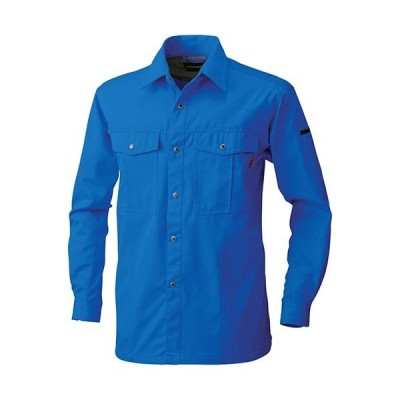 桑和(SOWA) 長袖シャツ 8/ブルー 6Lサイズ 6115 作業着 作業服 ワークウェア ウエア トップス メンズ