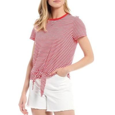 ラルフローレン レディース Tシャツ トップス Stripe Print Crew Neck Slub Jersey Tee
