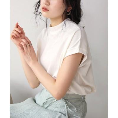 【ブージュルード】USコットンモックネックフレンチTシャツ