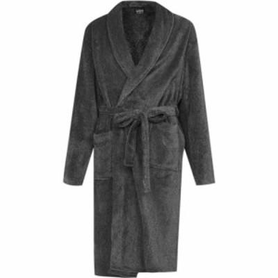 ハウィック Howick メンズ ガウン・バスローブ インナー・下着 Fleece Robe Charcoal Grey