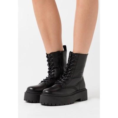 ブランコ ブーツ&レインブーツ レディース シューズ BIADEB LACED UP BOOT - Platform ankle boots - black