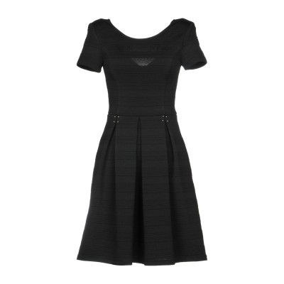 リュー ジョー LIU •JO ミニワンピース&ドレス ブラック 40 ポリエステル 93% / ポリウレタン 7% ミニワンピース&ドレス