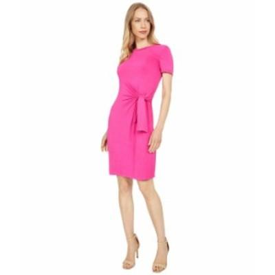 カルバンクライン レディース ワンピース トップス T-Shirt Dress with Tie Detail Hibiscus