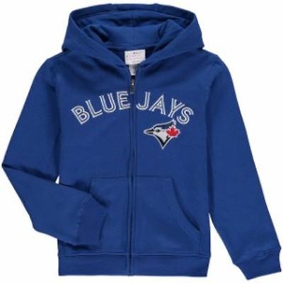 Outerstuff アウタースタッフ スポーツ用品  Toronto Blue Jays Youth Royal Wordmark Full-Zip Hoodie