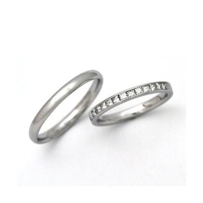 結婚指輪 安い プラチナ マリッジリング ダイヤモンド 0.31ct 00025_02555