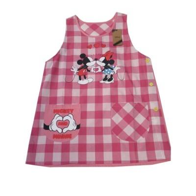 エプロン キッチンファブリック エプロン ディズニー 可愛い Disney ミッキー&ミニー エプロン サービス品  レッド 52005062