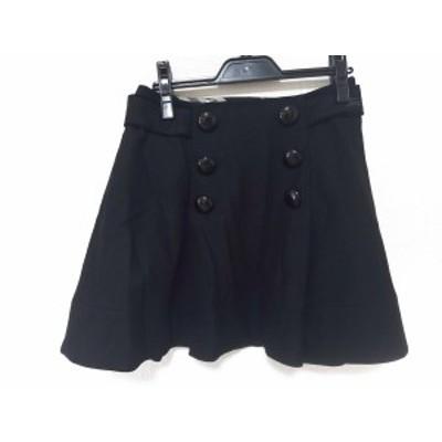 バーバリーブルーレーベル Burberry Blue Label ミニスカート サイズ36 S レディース - 黒【中古】20201007