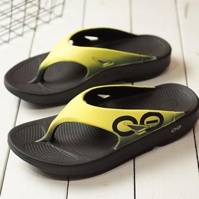 1年保証 ウーフォス OOFOS ウーオリジナル スポーツ Ooriginal Sport メンズ・レディース ランニング リカバリーサンダル 靴 Black Yellow イエロー系 5020030