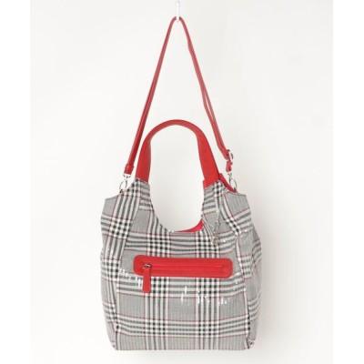 chumchum / chum chum select /ポリエステルチェック柄スパンコールトートバッグ WOMEN バッグ > トートバッグ