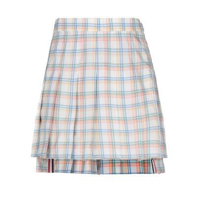 トム ブラウン THOM BROWNE ミニスカート ホワイト 42 ウール 100% ミニスカート
