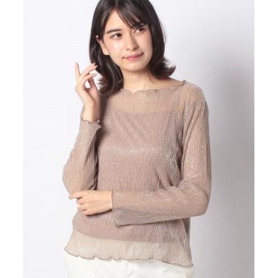 (INGNI/イング)ラメシアープリーツ長袖 キャミSET/レディース モカ