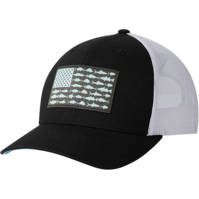 コロンビア 帽子 アクセサリー メンズ Columbia Sportswear Men's PFG Mesh Snap Back Fish Flag Cap Black/White/Gulf Stream
