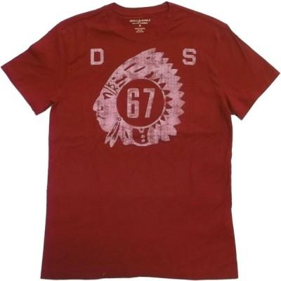 デニム&サプライ 半袖 プリント Tシャツ レッド ラルフローレン メンズ DENIM&SUPPLY 045