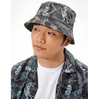 アメリカンイーグル メンズ 帽子 アクセサリー AE X NAITO Bucket Hat Black