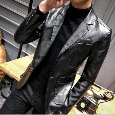 4色 メンズレザージャケット  ライダース   バイクウエア  皮ジャン  革ジャン  カジュアル    厚手  防寒