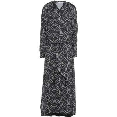 スーベニア SOUVENIR 7分丈ワンピース・ドレス ブラック XS ポリエステル 100% 7分丈ワンピース・ドレス