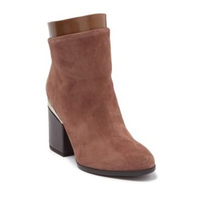 ホーガン レディース ブーツ&レインブーツ シューズ Two-Texture Ankle Boot LIGHT BROWN