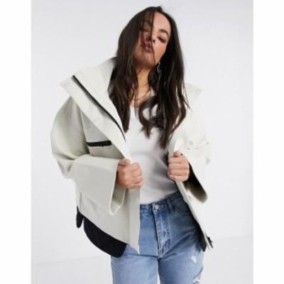 フレンチコネクション French Connection レディース ジャケット アウター Betti technical high neck jacket in white ホワイト/ブラッ