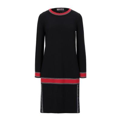 D.EXTERIOR ミニワンピース&ドレス ブラック S ウール 94% / レーヨン 4% / ポリエステル 1% / 金属化ポリエステル 1%
