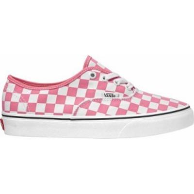 バンズ レディース スニーカー シューズ Vans Authentic Check LT Shoes Pink Lemonade/White