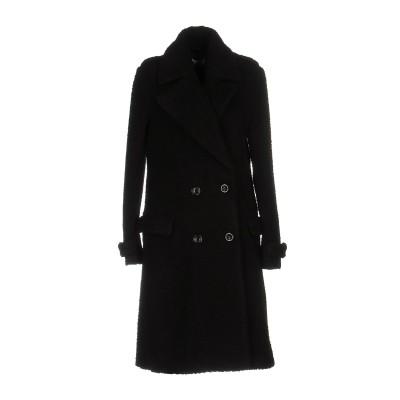 WEILI ZHENG コート ブラック S ポリエステル 100% コート
