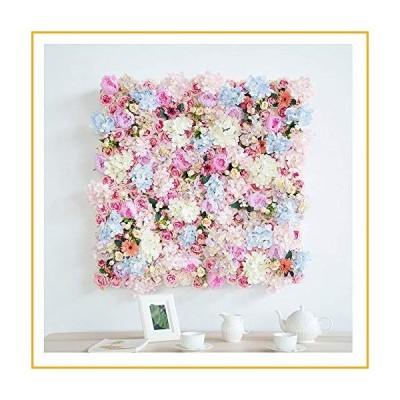 QINQIAFF 100x100cm Artificial Flower Blush Silk Hydrangea Rose Flower Mat Wall Wedding Event Decor for DIY Centerpieces Arrangements Party H