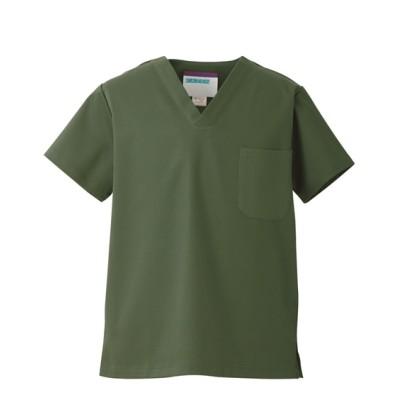 REP136 KAZEN スクラブ(男女兼用) ナースウェア・白衣・介護ウェア