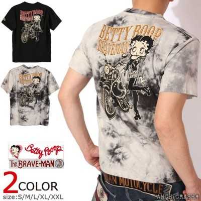 24h限定P最大17倍!5/16pm23:59迄 The BRAVE-MAN ベティブープ 半袖 Tシャツ BBB-2007 ブレイブマン BETTY BOOP 刺繍 ワッペン