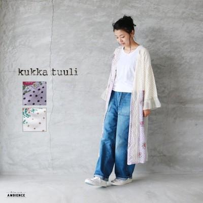 kukka tuuli クッカトゥーリ レースパッチワークローブ レディース 19SS オフホワイト 花柄 送料無料