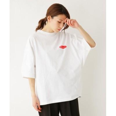 【シューラルー】 Champion バックロゴビッグTシャツ レディース オフホワイト 03(L) SHOO・LA・RUE