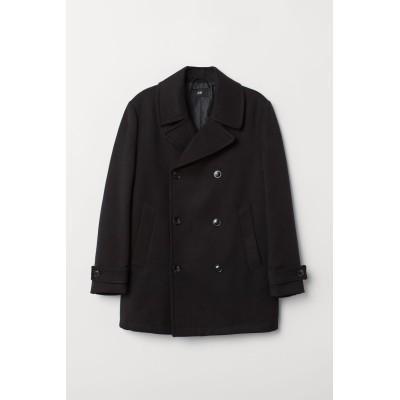 H&M - ピーコート - ブラック