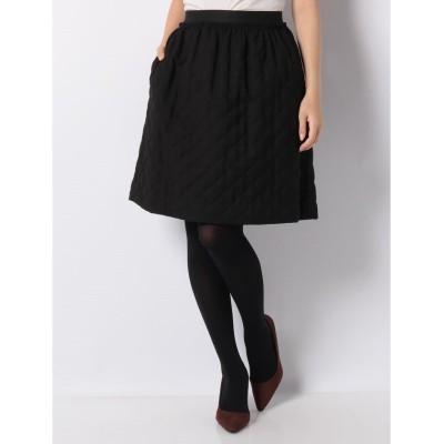 【ミス ジェイ】 ダブルクロスキルト スカート レディース ブラック 40 MISS J