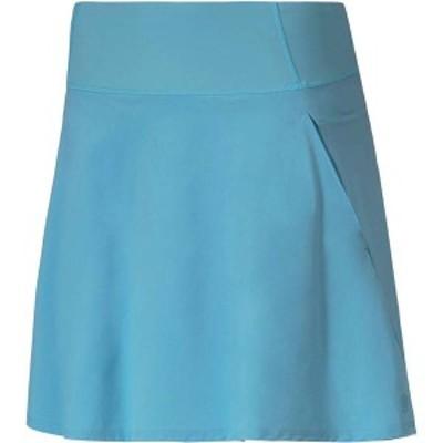 プーマ レディース スカート ボトムス PUMA Women's Woven PWRSHAPE Golf Skort Milky Blue