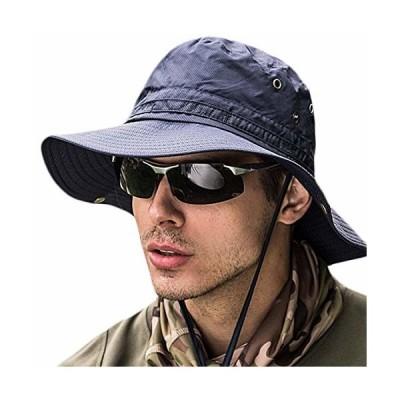サファリハット メンズ日よけ帽子 つば広 大きいサイズ 速乾・軽薄・通気性抜群・紫外線対策・折りたたみ