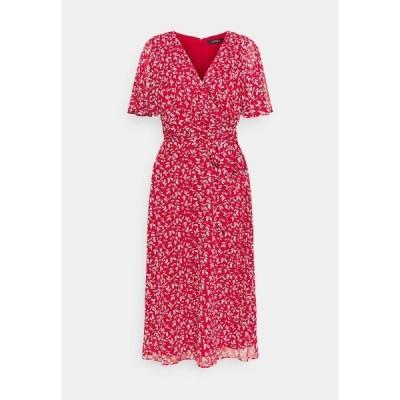 ラルフローレン ワンピース レディース トップス PRINTED GEORGETTE DRESS - Day dress - lipstick red
