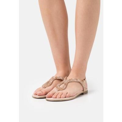デューンロンドン レディース サンダル LONGLEY - T-bar sandals - nude