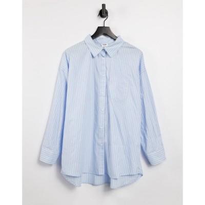 コットンオン Cotton:On レディース ブラウス・シャツ トップス dad shirt in blue stripe