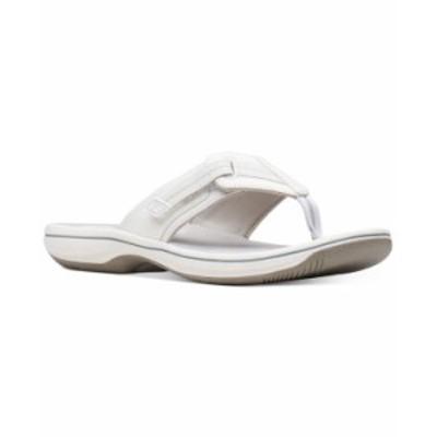クラークス レディース サンダル シューズ Women's Cloudsteppers Brinkley Jazz Sandals White Synthetic