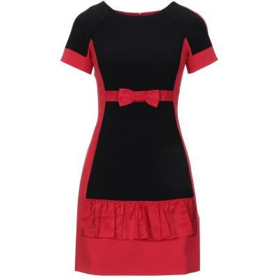 モスキーノ MOSCHINO ミニワンピース&ドレス ブラック 36 トリアセテート 64% / ポリエステル 36% ミニワンピース&ドレス