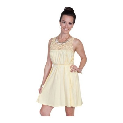 スカーリー ワンピース トップス レディース Cotton Dress PSL-171 (Women's) Yellow