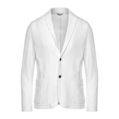 FRADI テーラードジャケット ホワイト 52 コットン 100% テーラードジャケット