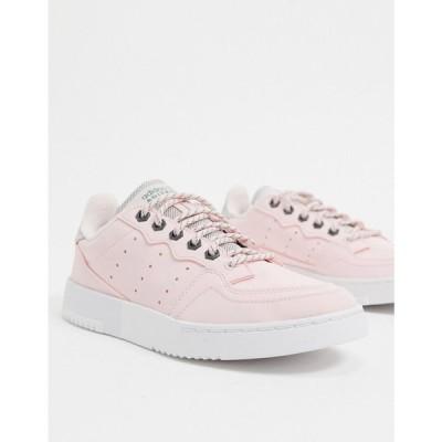 アディダス adidas Originals レディース スニーカー シューズ・靴 Supercourt trainers in halo pink & trace green ピンク/グリーン