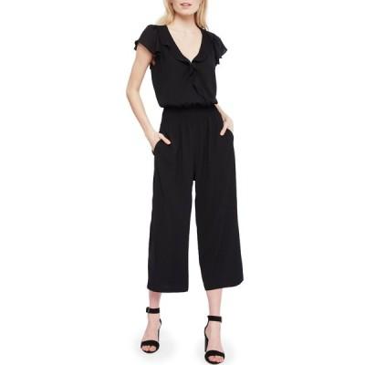 パーカー レディース ワンピース トップス Billie Ruffle Crop Leg Jumpsuit BLACK