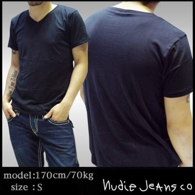 ヌーディージーンズ メンズ Tシャツ NUDIE JEANS 無地 デニム ジーンズ ブランド ロンハーマン ファッション セレブ カジュアル セレカジ スタイル セール