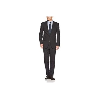 [タカキュー] taka-q 2ボタン ストレッチ 洗える スラックス 組織柄 グレー 2ピース AB体 スリムフィット 結婚式 ビジネス スーツ 1